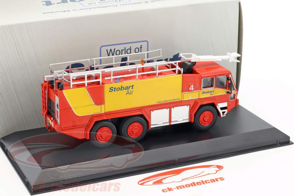 Air Javelin Fire Tender Stobart rosso / giallo 1:76 Atlas