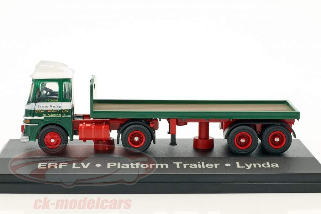 ERF LV Platform Trailer Lynda Stobart verde / bianco 1:76 Atlas