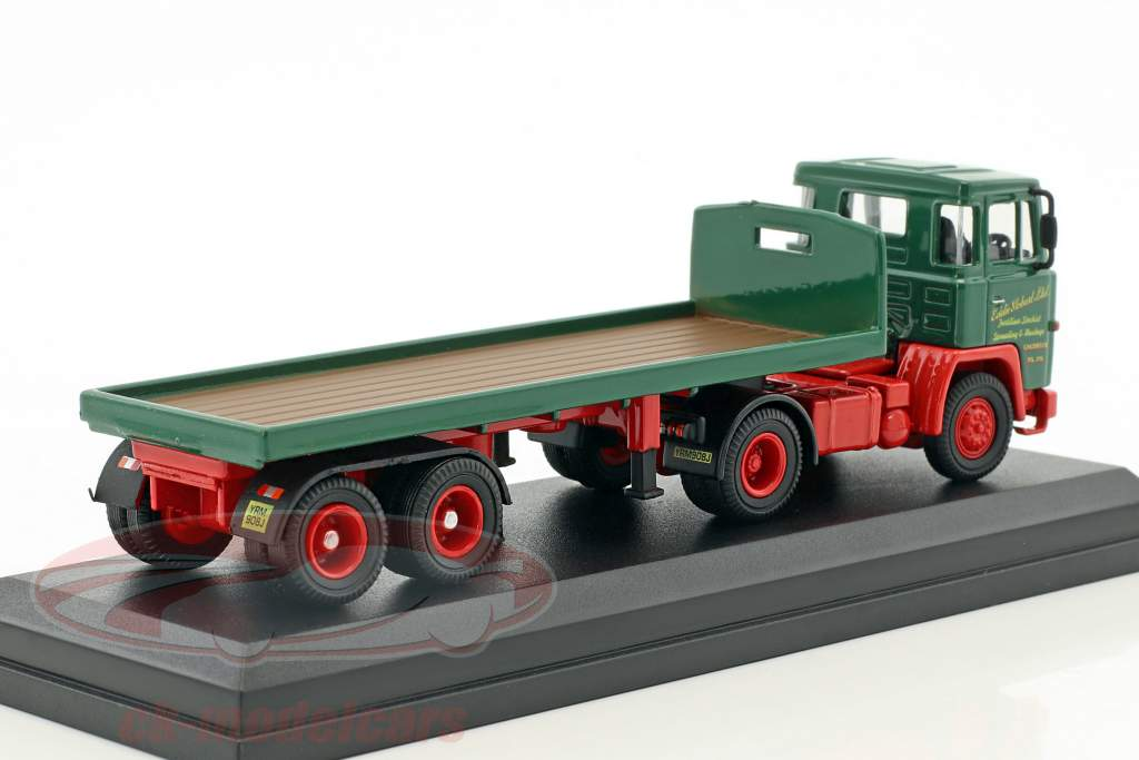 Scania 110 Flatbed Trailer Stobart verde / rosso 1:76 Atlas