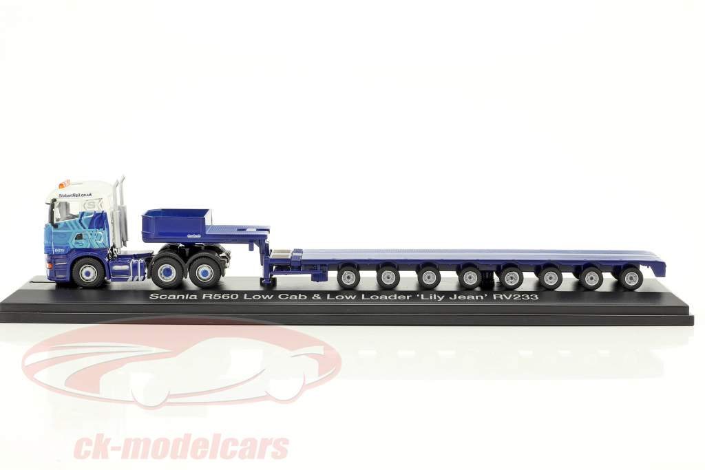 Scania R560 Low Cab & Low Loader Lily Jean RV233 Stobart blue / white 1:76 Atlas