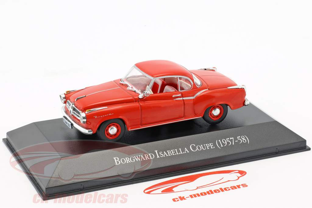 Borgward Isabella coupe year 1957-1958 red 1:43 Hachette