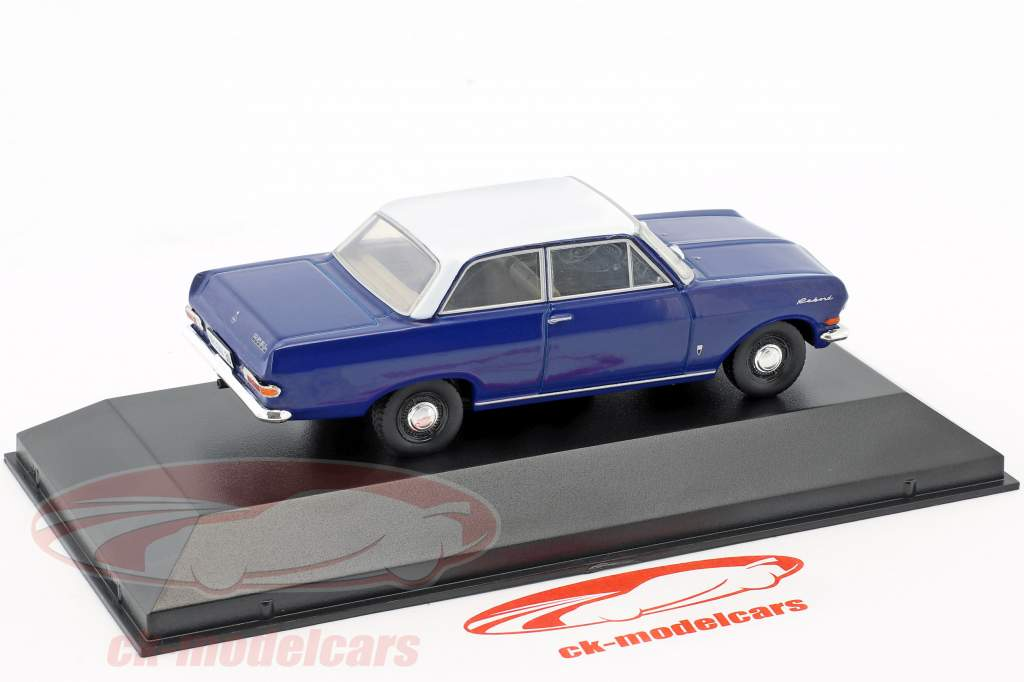 Opel Rekord A year 1963-1965 blue / white 1:43 Hachette