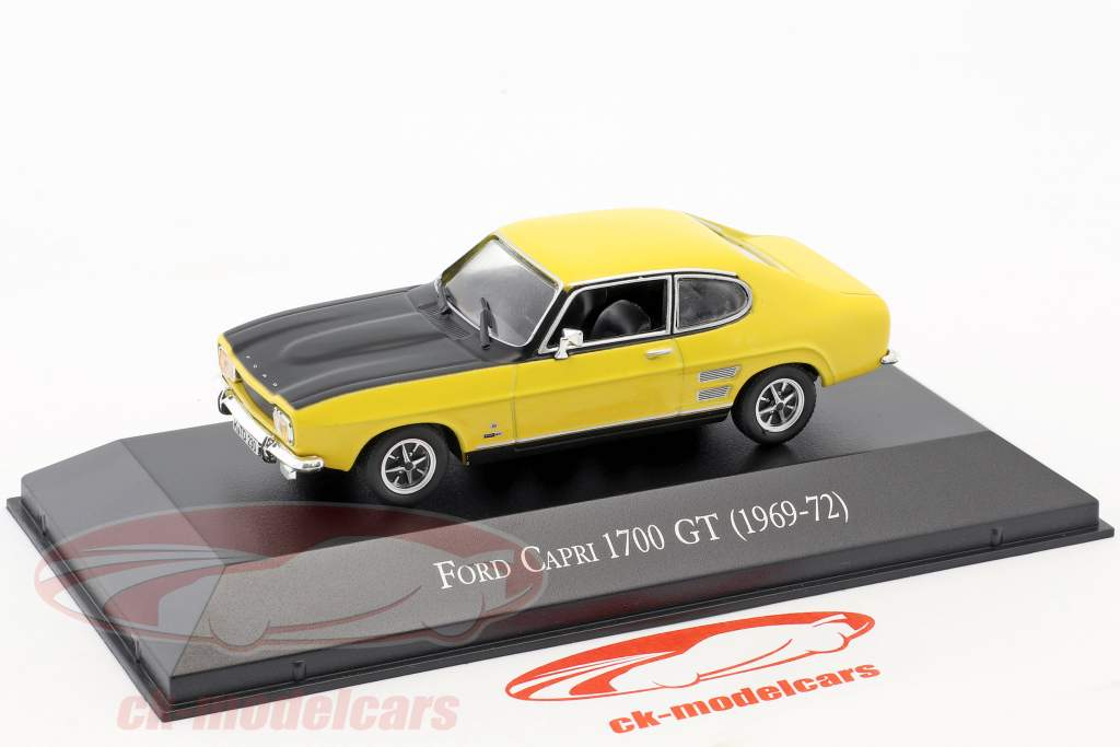 Ford Capri 1700 GT year 1969-1972 yellow / black 1:43 Hachette