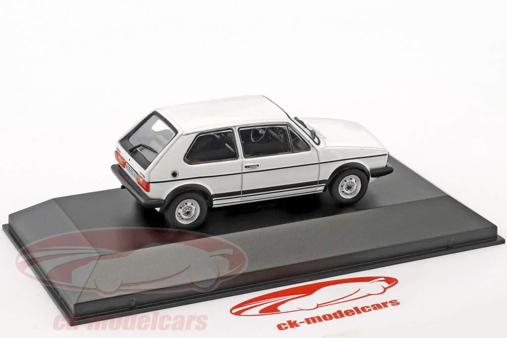 Volkswagen VW Golf GTI I année de construction 1976 blanc 1:43 Hachette