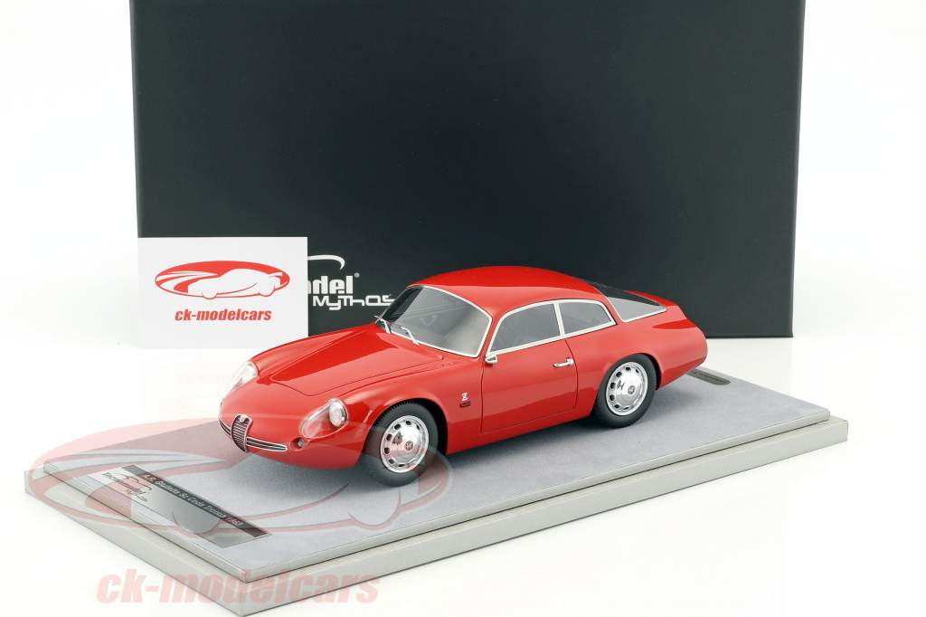 Alfa Romeo Giulietta SZ Coda Tronca Press Version 1963 red 1:18 Tecnomodel