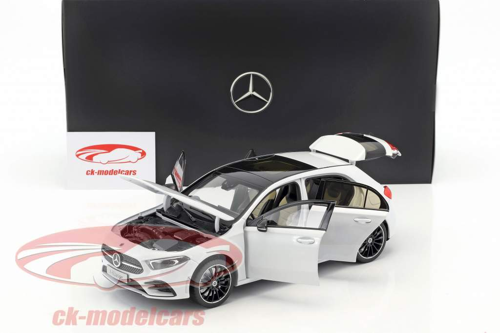Mercedes-Benz A-Class (W177) year 2018 digital white metallic 1:18 Norev