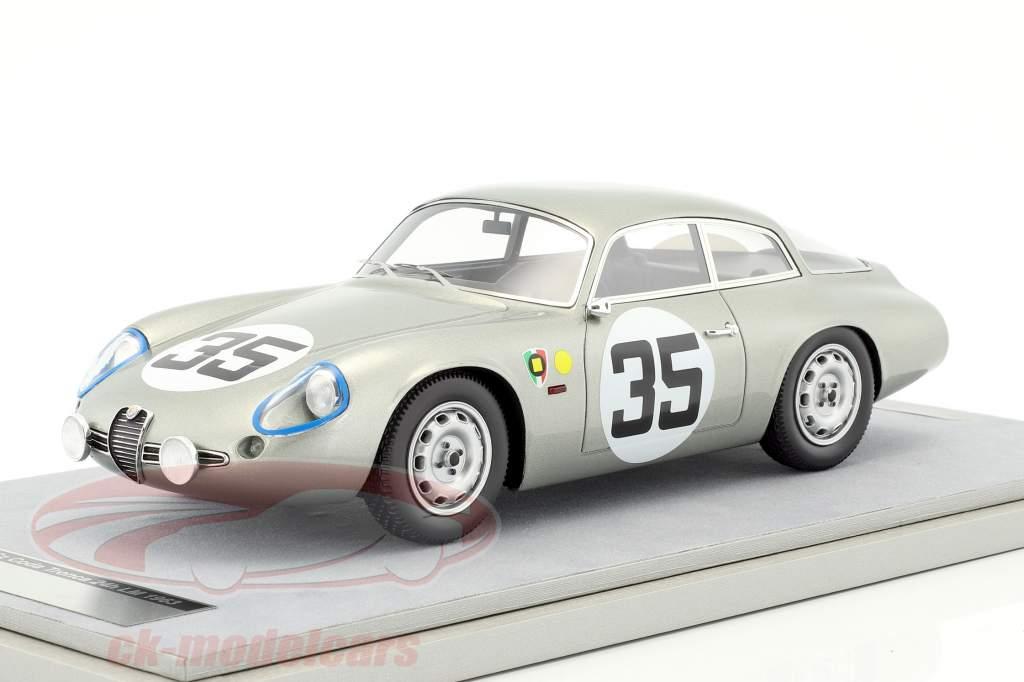 Alfa Romeo Giulietta SZ Coda Tronca #35 24h LeMans 1963 Biscaldi, Pedretti 1:18 Tecnomodel