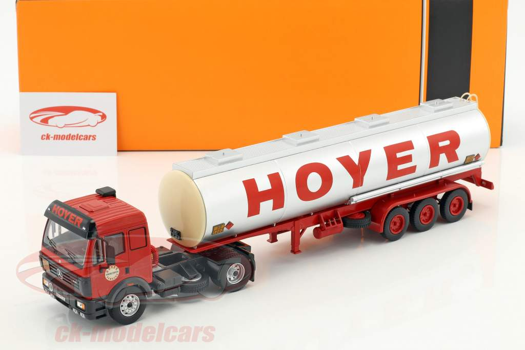 Mercedes-Benz SK 1844 tanker Hoyer year 1994 red / silver 1:43 Ixo