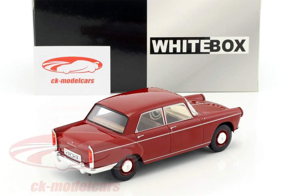 Peugeot 404 Baujahr 1960 rot 1:24 WhiteBox