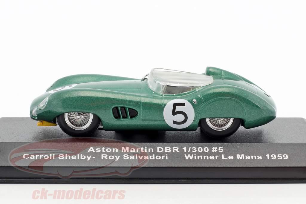 Aston Martin DBR1 RHD #5 Winner 24h LeMans 1959 Salvadori, Shelby 1:43 Ixo