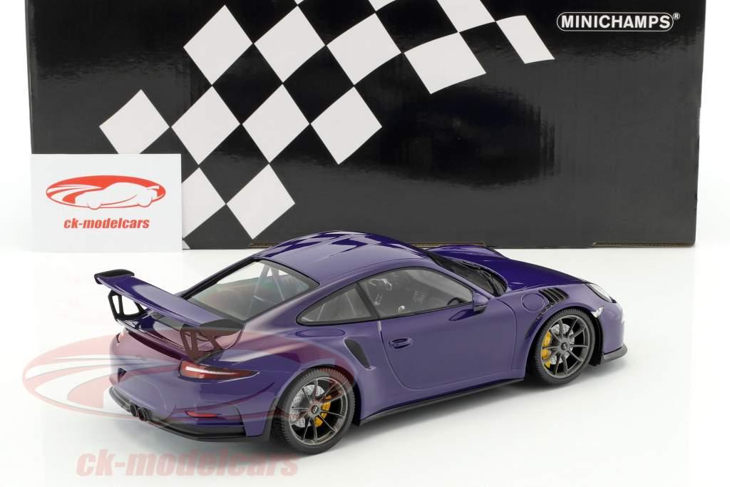 Porsche 911 (991) GT3 RS anno di costruzione 2015 ultravioletto 1:18 Minichamps