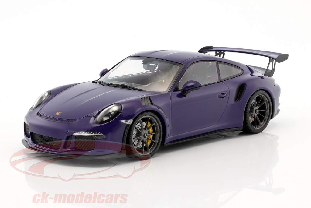Porsche 911 (991) GT3 RS year 2015 ultraviolet 1:18 Minichamps