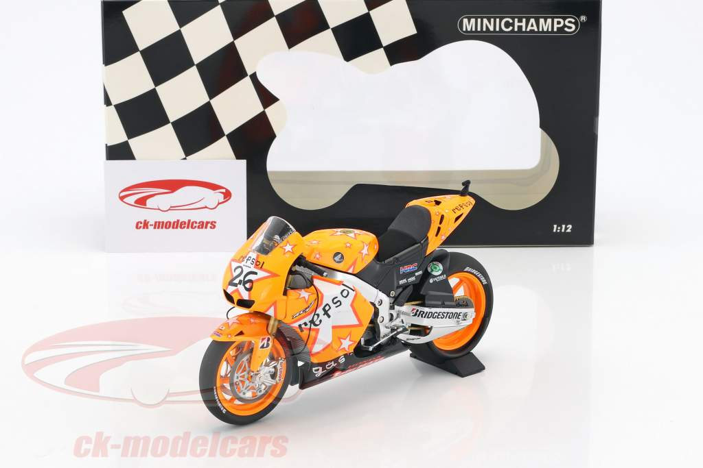Dani Pedrosa Honda RC212V #26 Aragona GP MotoGP 2011 1:12 Minichamps
