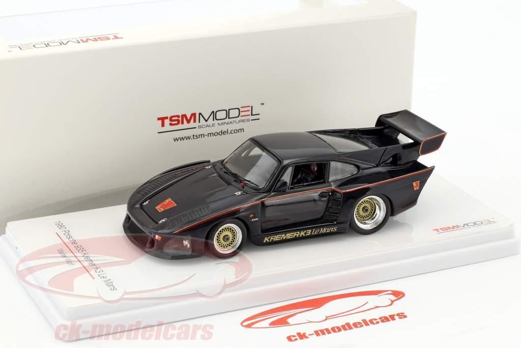 Porsche 935 Kremer K3 LeMans Walter Wolf année de construction 1980 noir 1:43 TrueScale