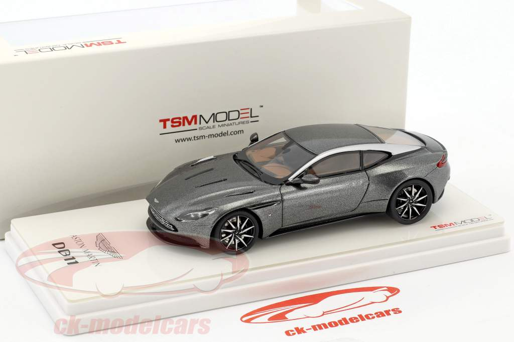 Aston Martin DB11 year 2017 magnetic silver 1:43 TrueScale