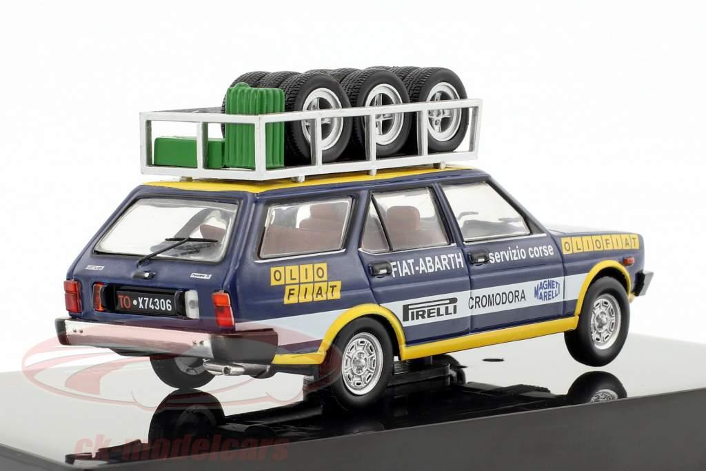 Fiat 131 Panorama Rallye Assistance Olio Fiat Baujahr 1975 blau / gelb / weiß 1:43 Ixo