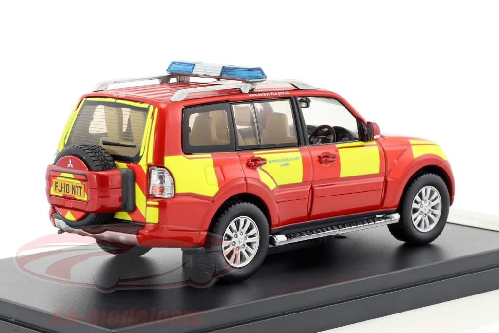 Mitsubishi Shogun RHD Derbyshire fuoco & salvataggio servizio 2010 1:43 Premium X