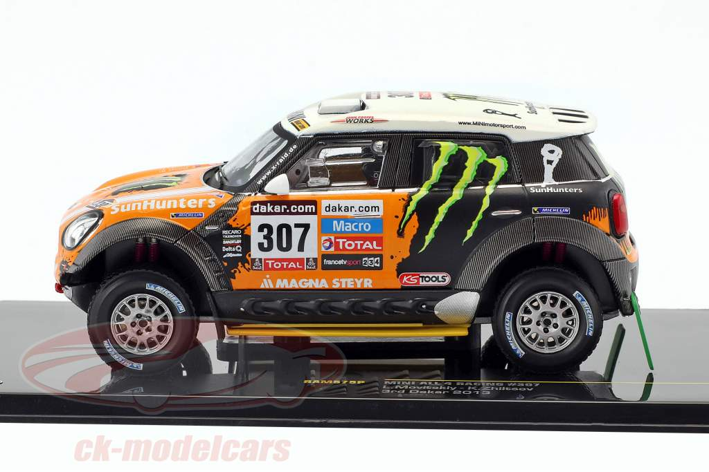 Mini All4 Racing #307 3 ° Rallye Dakar 2013 Novitsky, Zhiltsov 1:43 Ixo
