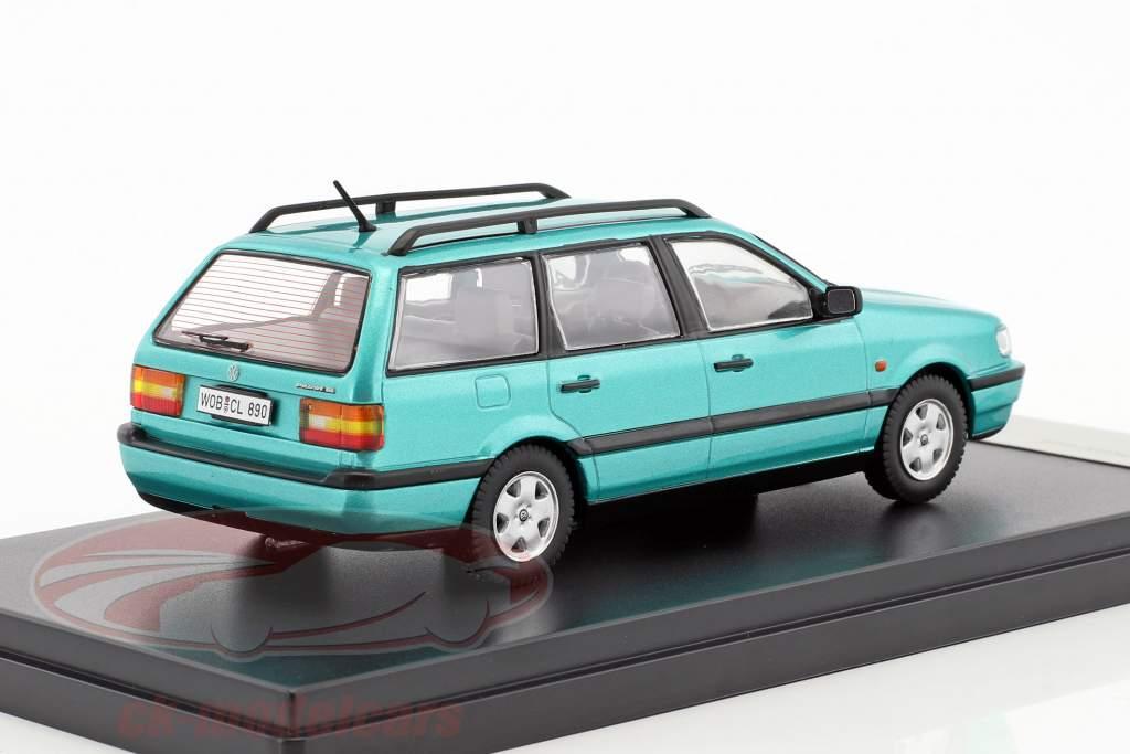 Volkswagen VW Passat Variant B4 year 1993 light green metallic 1:43 Premium X