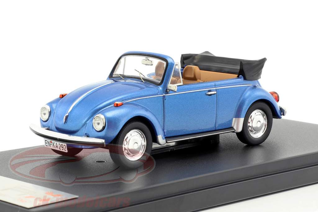 Volkswagen VW Käfer Cabriolet année 1973 bleu métallique 1:43 Premium X