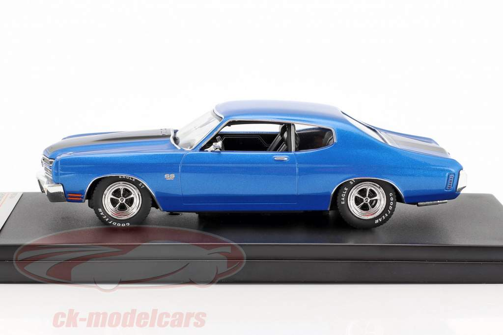 Chevrolet Chevelle SS year 1970 blue metallic / black 1:43 Premium X