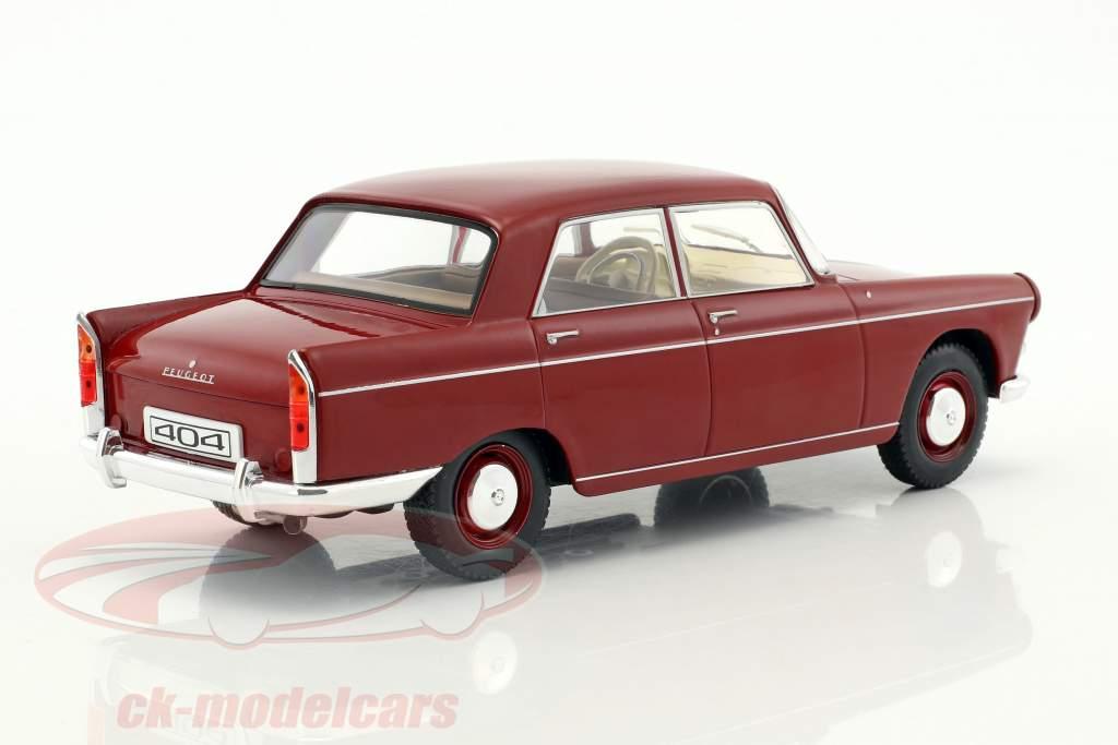 Peugeot 404 anno di costruzione 1960 rosso 1:24 WhiteBox