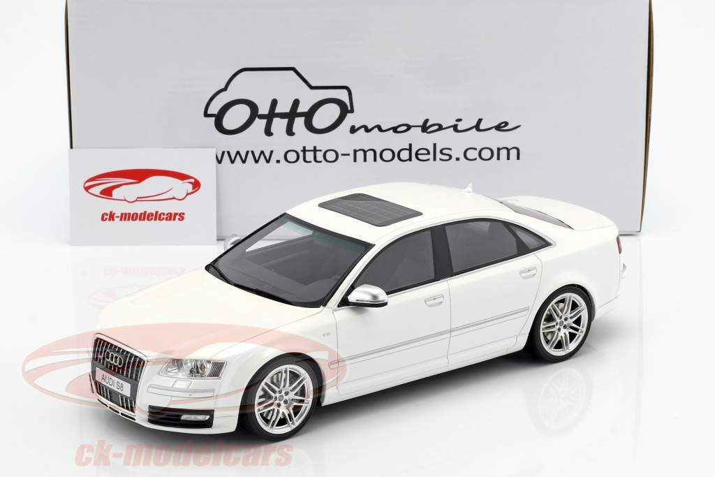 Audi S8 Construction year 2008 D3 ibis white 1:18 OttOmobile