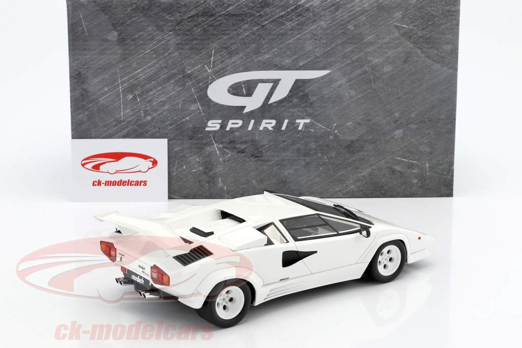 Lamborghini Countach LP500 QV year 1987 white 1:18 GT-Spirit