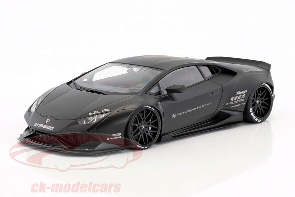 Lamborghini Huracan Liberty Walk LB-Works natte noir 1:18 AUTOart