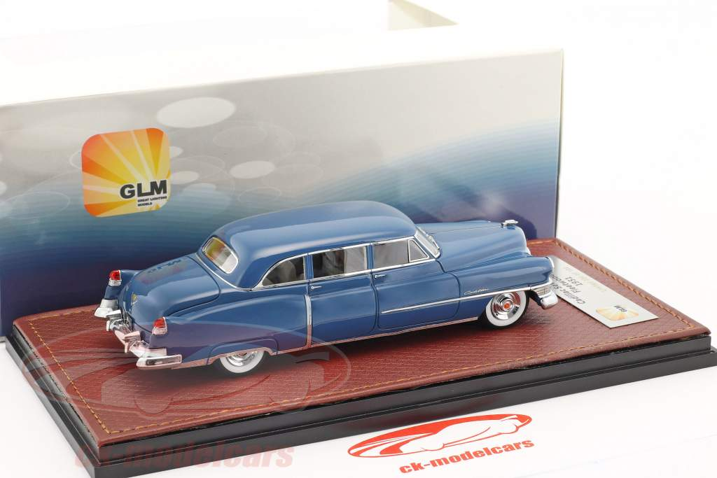 Cadillac Fleetwood 75 year 1951 blue 1:43 GLM