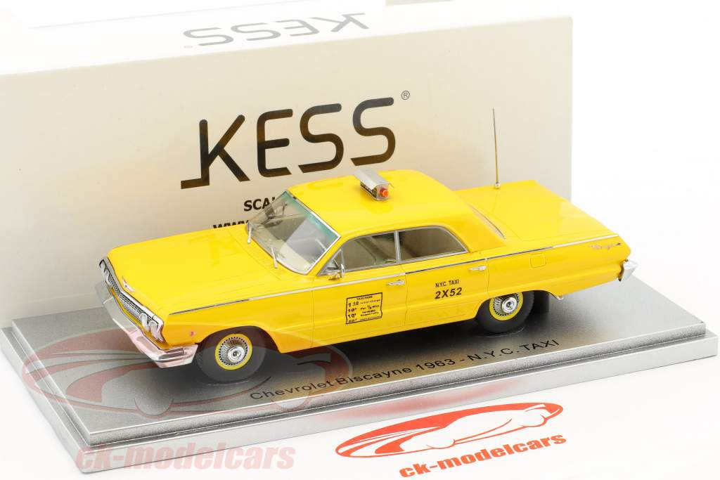 Chevrolet Biscayne N.Y.C. Taxi year 1963 yellow 1:43 KESS