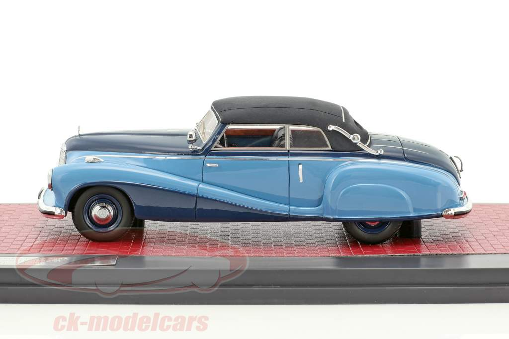 Mercedes-Benz 320A (W142) Spezial Cabriolet Closed year 1948 blue 1:43 Matrix