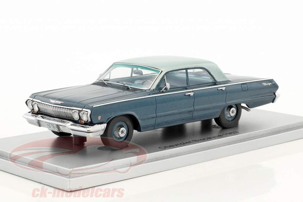 Chevrolet Biscayne year 1963 blue 1:43 KESS