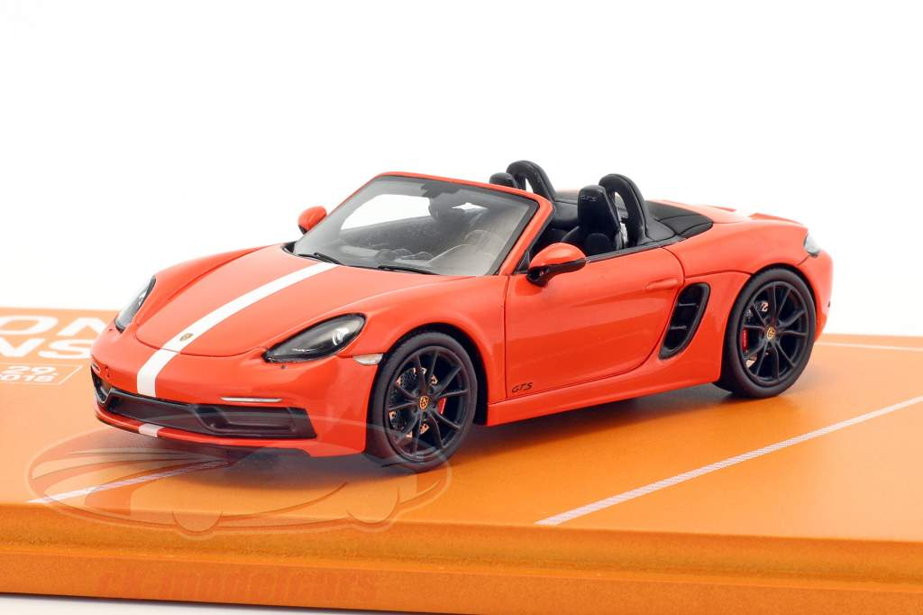 Porsche 718 Boxster GTS Porsche Tennis Grand Prix 2018 orange / White 1:43 Spark