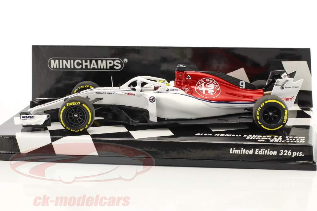 Marcus Ericsson Sauber C37 #9 showcar formule 1 2018 1:43 Minichamps