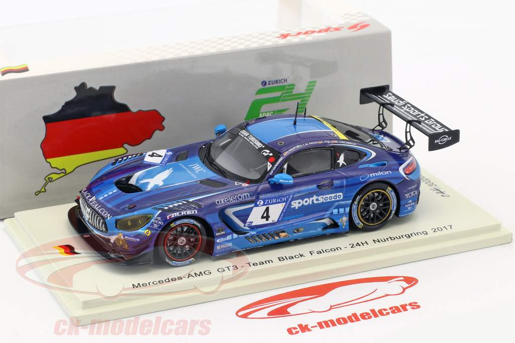Mercedes-Benz AMG GT3 #4 24h Nürburgring 2017 Team Black Falcon 1:43 Spark