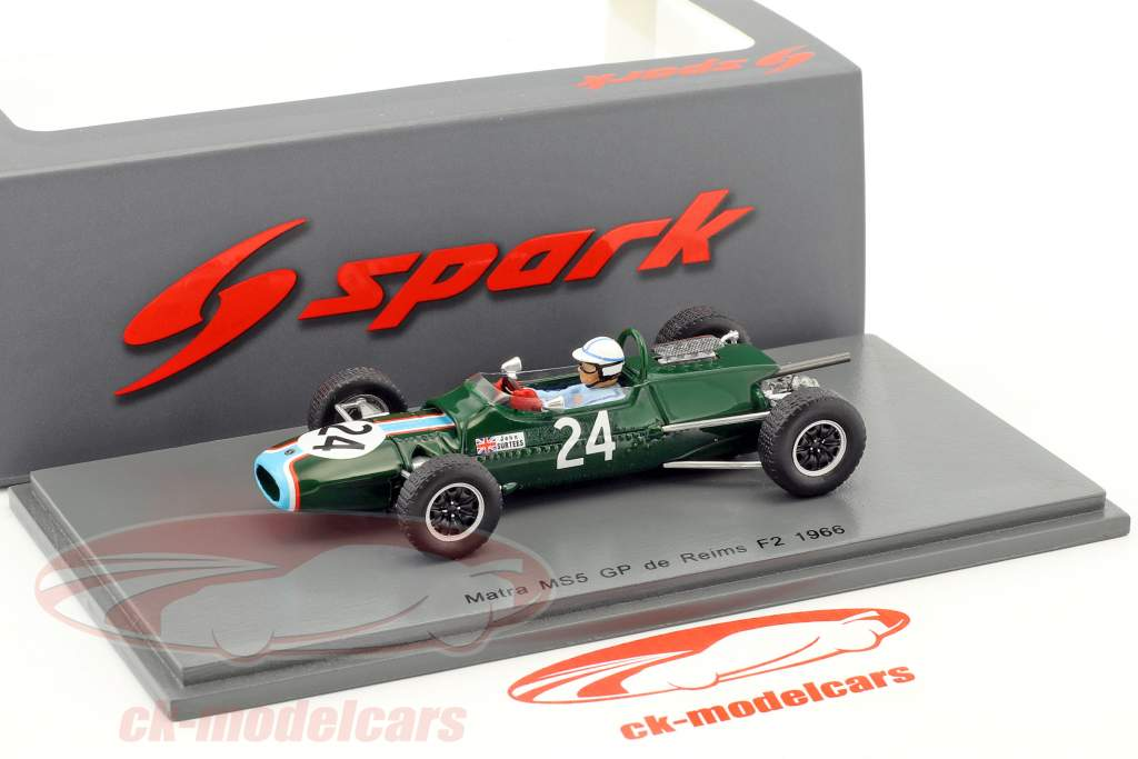John Surtees Matra MS5 #24 GP de Reims formule 2 1966 1:43 Spark