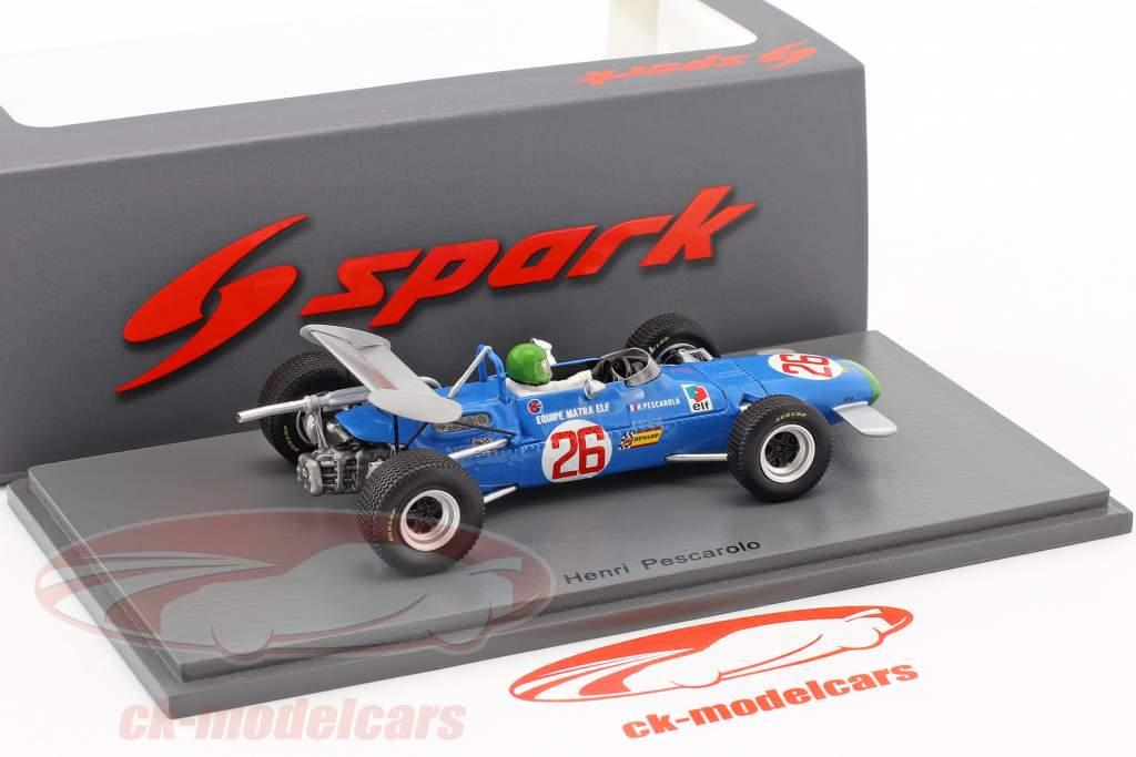 Henri Pescarolo Matra MS7 #26 vincitore tedesco GP formula 2 1969 1:43 Spark