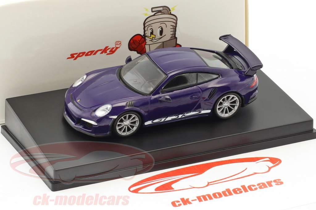 Porsche 911 (991) GT3 RS anno di costruzione 2016 ultra viola 1:64 Spark