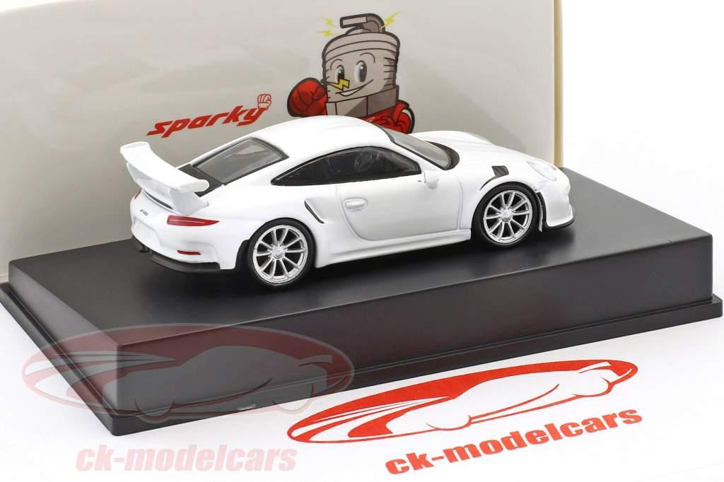 Porsche 911 (991) GT3 Baujahr 2016 weiß 1:64 Spark