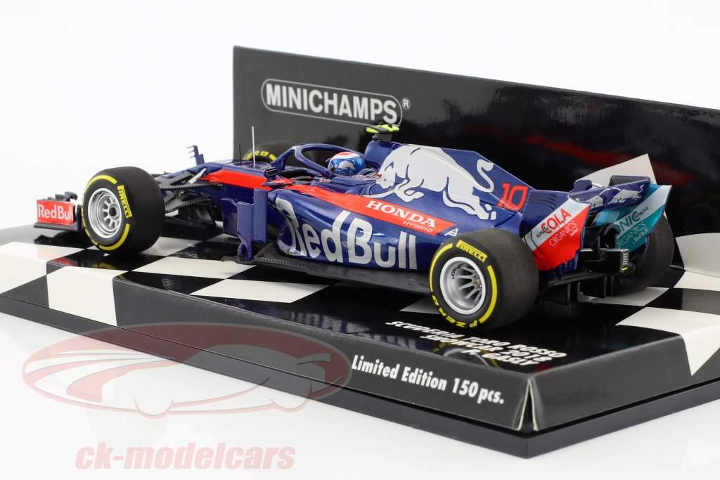 Pierre Gasly Scuderia Toro Rosso STR13 #10 showcar formula 1 2018 1:43 Minichamps