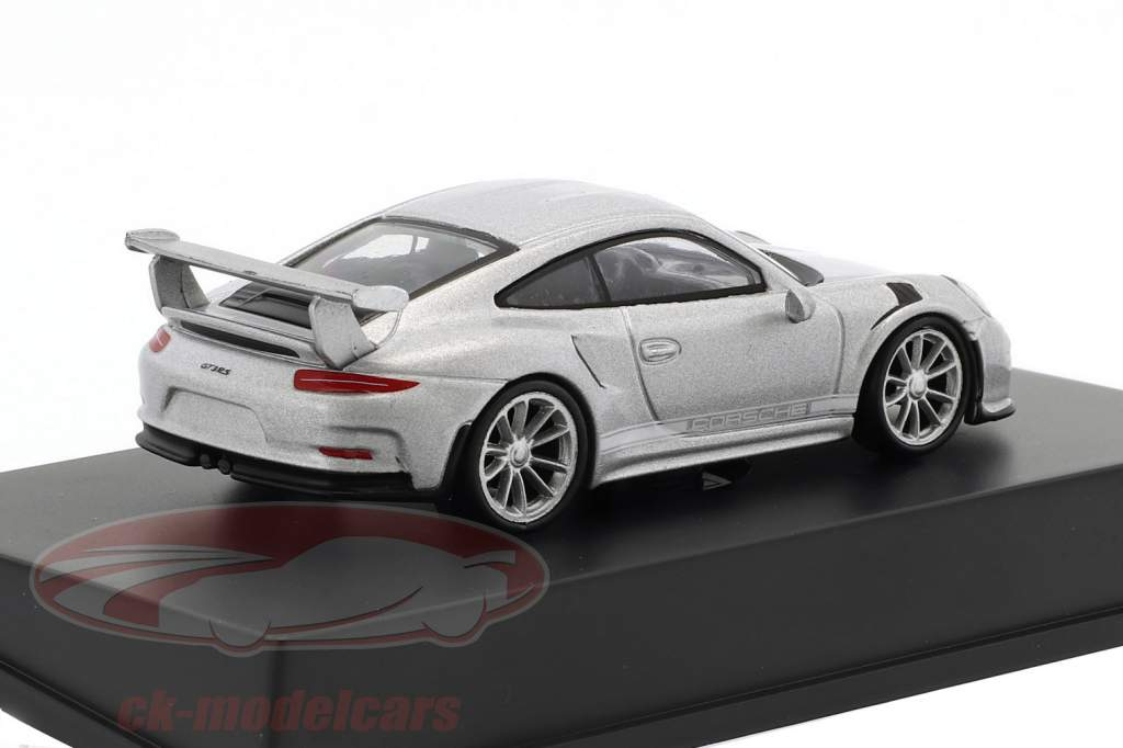 Porsche 911 (991) GT3 RS année de construction 2016 argent 1:64 Spark