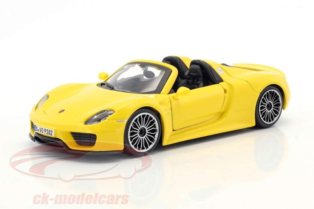 Porsche 918 Spyder giallo 1:24 Bburago