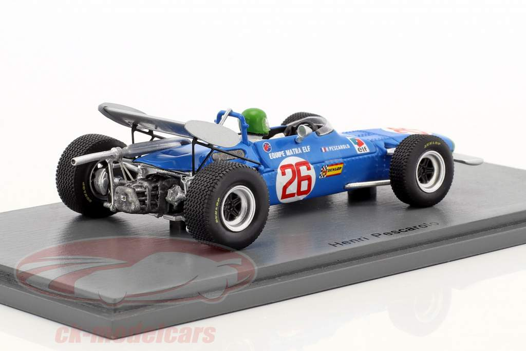 Henri Pescarolo Matra MS7 #26 Winner Deutschland GP Formel 2 1969 1:43 Spark