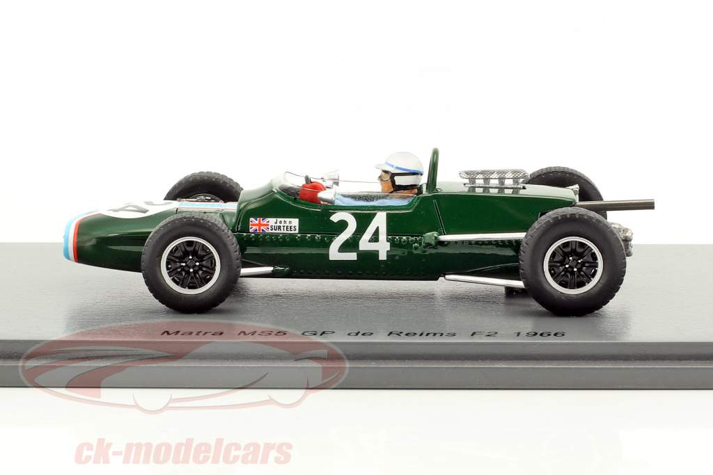 John Surtees Matra MS5 #24 GP de Reims formula 2 1966 1:43 Spark