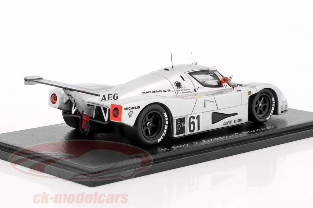 Sauber-Mercedes C9 #61 2 24h LeMans 1989 Baldi, Acheson, Brancatelli 1:43 Spark