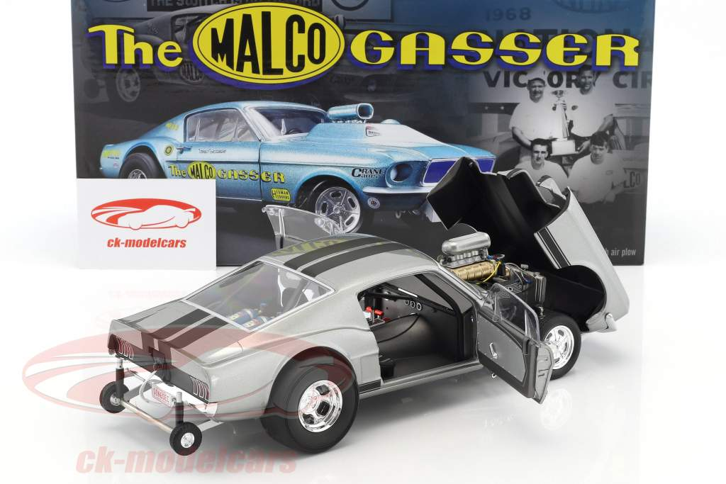 Ford Mustang Gasser year 1967 Gone in 6 Seconds (TV episode 2015) gray 1:18 GMP