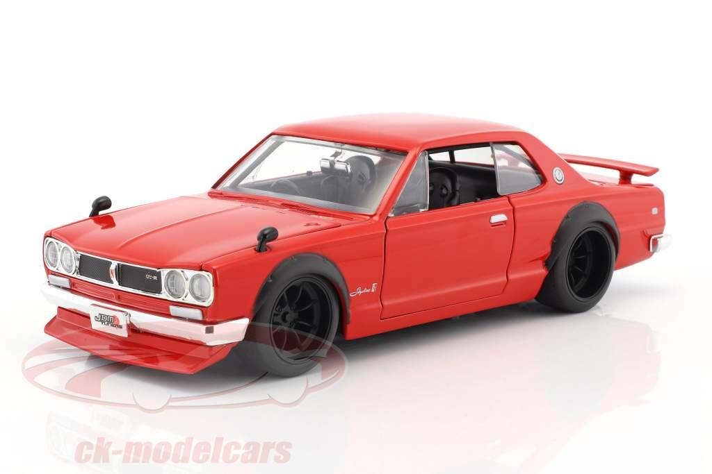 Nissan Skyline GT-R anno di costruzione 1971 rosso 1:24 Jada Toys