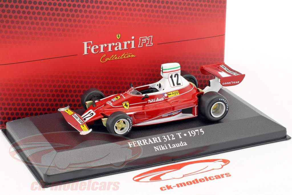 Niki Lauda Ferrari 312T #12 World Champion formula 1 1975 1:43 Atlas