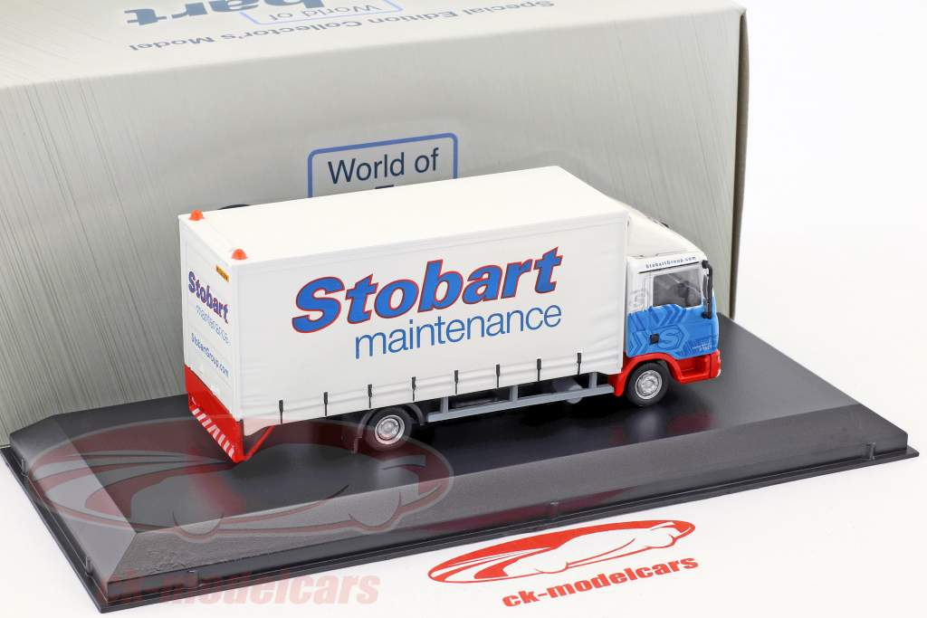 MAN 4-Wheel Box Van Sammy Shammy F1521 Stobart white / blue 1:76 Atlas